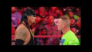 WWE 3/4/2018 The American Badass Undertaker Returns to Confront John Cena ᴴᴰ April/4/2018