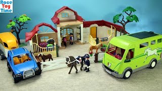 Playmobil Horse Van Transporter Build and Play Fun Toy Playset For Kids