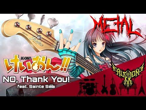 K-ON!! ED2 - NO, Thank You! (feat. Sainte Séïa) 【Intense Symphonic Metal Cover】