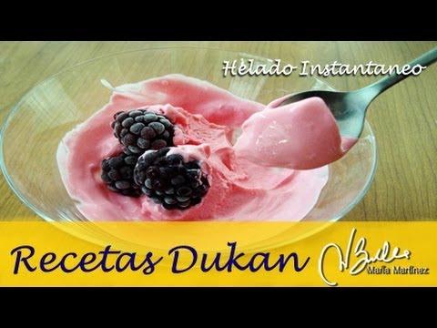 Adelgazar: Helado Instantáneo (Dieta Dukan Ataque) / Instant Diet Icecream