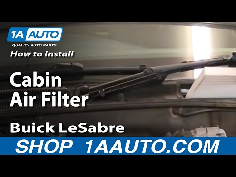 How To Install Replace Cabin Air Filter Buick LeSabre 00-05 1AAuto.com