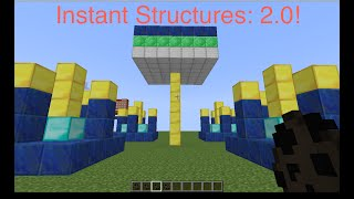 Minecraft One Command Block Creation | Instant Structures 2.0!