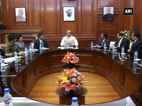Rajnath Singh meets Bangladesh official ahead of home secretary level talks