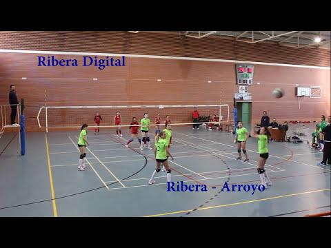Partido de cuartos de final, voleibol femenino A.D. Voleibol Ribera - Arroyo de la Luz