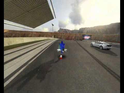 Sonic sur trackmnia 2