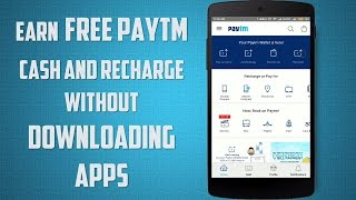 Paytm Unlimited Recharge and Wallet Cash Without Downloading Apps(November 2016)