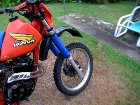 Honda xr250 1985 Cold start