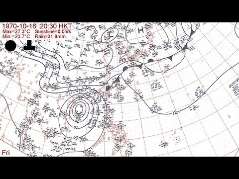 The 1970 typhoon season with Hong Kong daily weather summaries