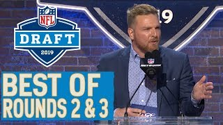Pat McAfee Trolling, Emotional Reactions & More! | Best Moments from Rounds 2 & 3 | 2019 NFL Draft