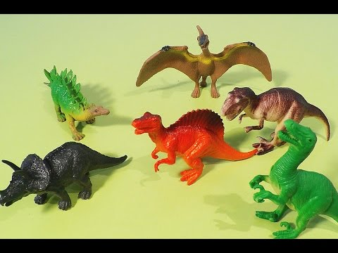 Dinosaur Toys Video for Kids T-Rex Pterodactyl Dinossauros