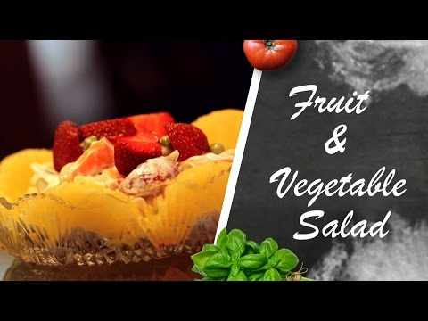 Healthy Fruit & Vegetable Salad By Roopa - Valentine's Day Special Salad Recipe