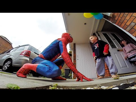 The Amazing SpiderDad - 5yr Old Son Battling Cancer Gets Surprise