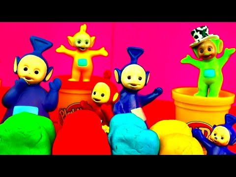 Play Doh Surprise Eggs Teletubbies Disney Cars Spongebob Angry Birds Playdough Spiderman Smurfs Toys