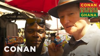 Conan & Sam Richardson Explore Makola Market - CONAN on TBS