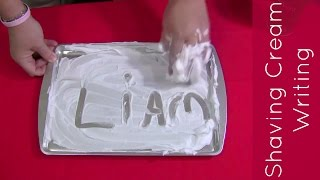 Shaving Cream Writing Sensory Play For Prescool and Kindergarten