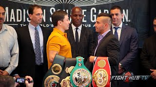 Gennady Golovkin vs. David Lemieux full video-complete face off video-New York
