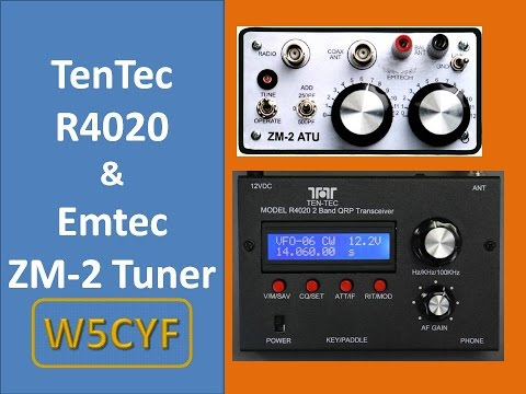 Ten Tec R4020 and Emtec EM2 QRP CW Demo