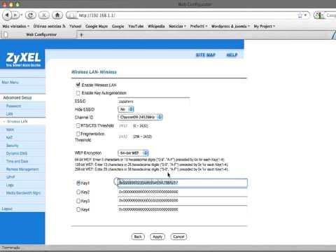 Zyxel P660 Hw D1 - configuracion wifi y contraseña