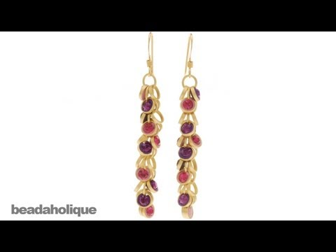 How to Use Circle Charm Chain and Crystal Clay to Make Earrings