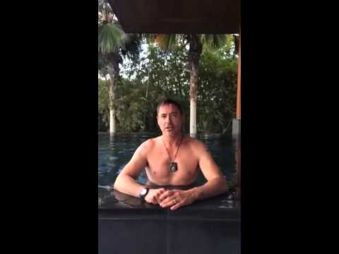 RDJ takes the Ice Bucket Challenge for ALS Music Videos