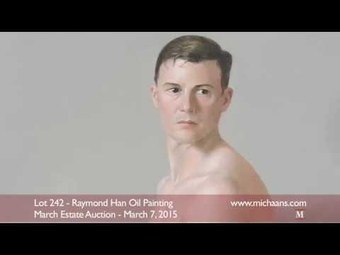 Raymond Han Male Nude Oil Painting