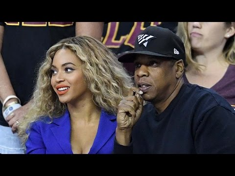 Jay-Z & Beyonce At Game 6 Of NBA Finals, Creepy Fan Pulls Beyonce's Hair