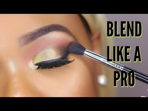 HOW TO BLEND EYESHADOW LIKE A PRO FOR BEGINNERS   OMABELLETV