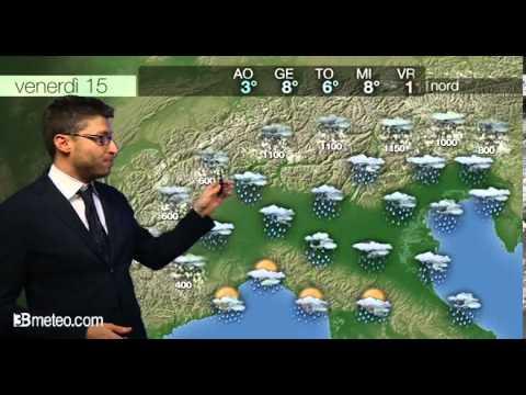 Previsioni meteo Video per venerdi, 15 novembre