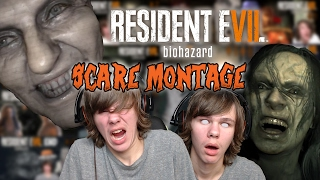 RE7 SCARE MONTAGE, REACTION COMPILATION   Resident Evil 7   All Jumpscares Scariest Moments Mash up