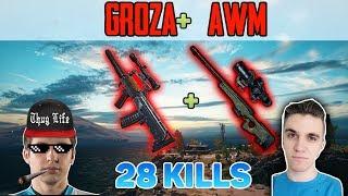 GROZA + AWM - Shroud & Chad win FPP SQUAD game 28 KILLS [NA] - PUBG HIGHLIGHTS TOP 1 #43