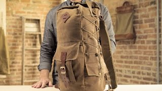 The Utility Duffle   Waxed Canvas & Leather Backpack Duffle Hybrid