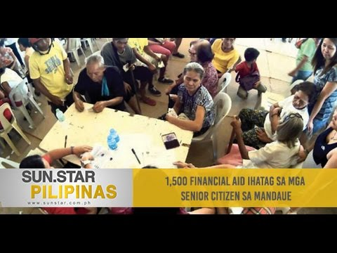 1,500 financial aid ihatag sa mga senior citizen sa Mandaue