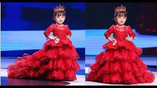 Princess / Birthday / Party / Wedding Long Gown Dresses for Girls  (kids fashion show)