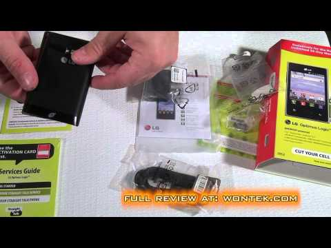 Straight Talk LG Optimus Logic Unboxing