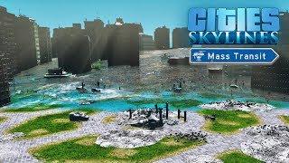 Cities Skylines - ТРИ ЦУНАМИ ПОДРЯД! Город затоплен😢