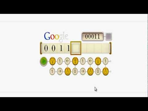 Alan Turing's 100th Birthday - GOOGLE DOODLE