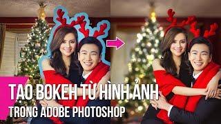 Change Background and Create Bokeh For Christmas Photo   Thuy Uyen Design