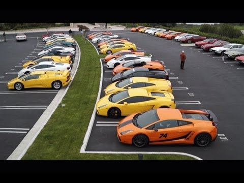 LAMBORGHINI PARKING ONLY! 50+ Lamborghinis at a meet