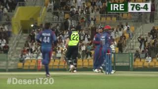 Ireland vs  Afghanistan Desert T20 Highlights 2017