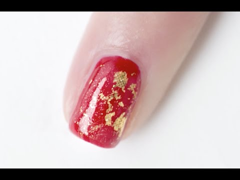 Foil Nail Art with Gel