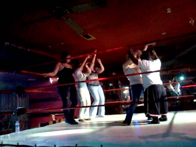 Extreme Midget Wrestling Dancing in between matches