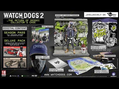 Распаковка Watch Dogs 2 Return of DedSec Collector's Case Unbox!