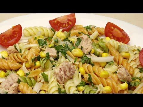 Салат с макаронами и тунцом рецепт