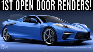 NEVER Before Seen Chevy C8 Mid-Engine Corvette With Doors Open!