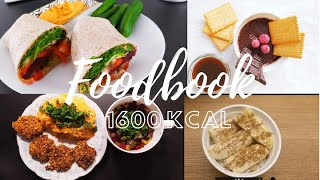 FOODBOOK- Co jem w ciągu dnia| 1600 kcal