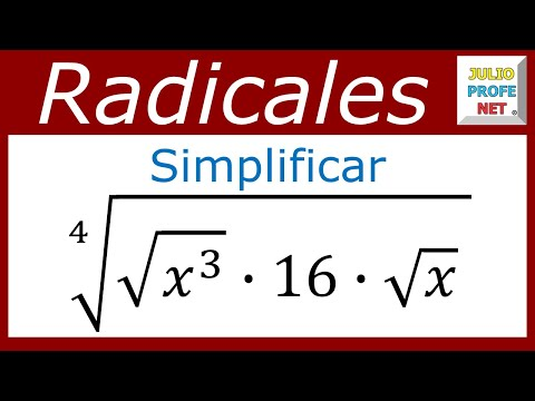 Simplificación de un radical-Radical simplification