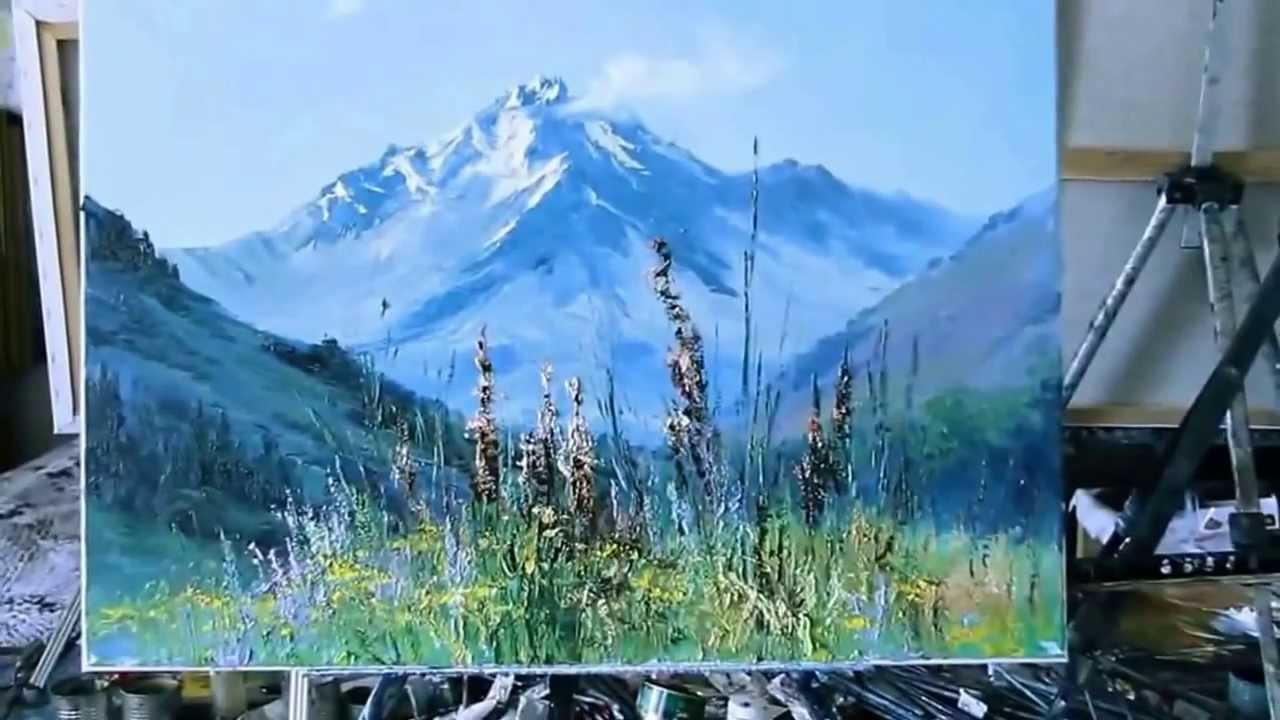 Как нарисовать природу пейзаж поэтапно