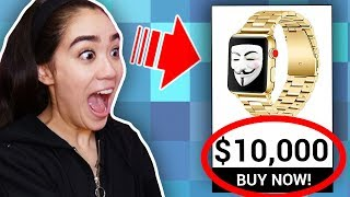 EVIL TWIN Buying EVERY HACKER GADGET SHE LOOKS AT with EYE TRACKER Challenge (WORST REVIEWED)