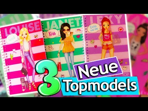 Neue Topmodel DRESS ME UP Bücher | Topmodel Louise, Janet und Lexy & Styling | Topmodel Stickerbuch