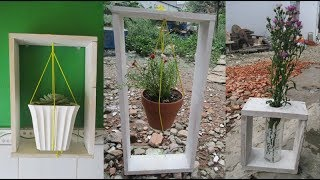 DIY with 3 ideas to make use of Pallet to make quick photo frame garden Garden in photo frame